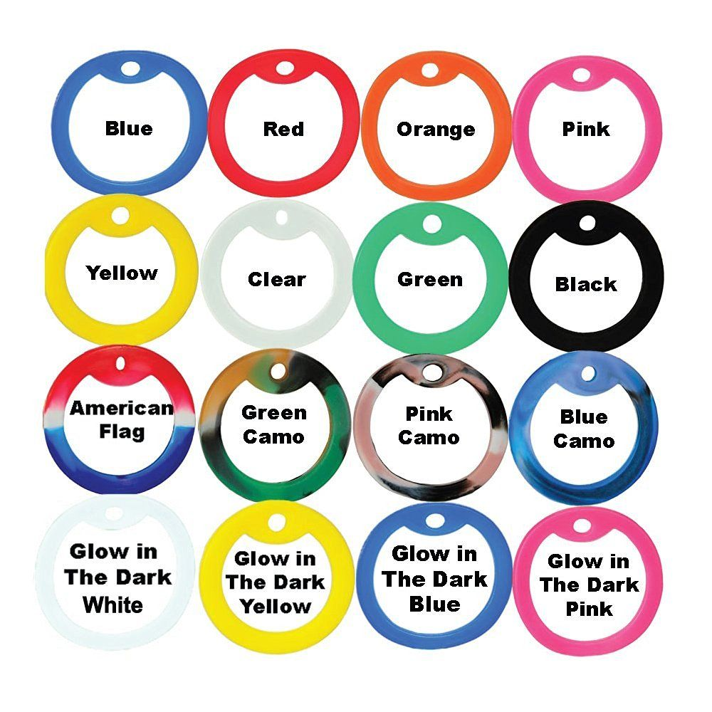 Pack of 10 White Color Military Army ID Dog Tag Rubber Silicone Silencers