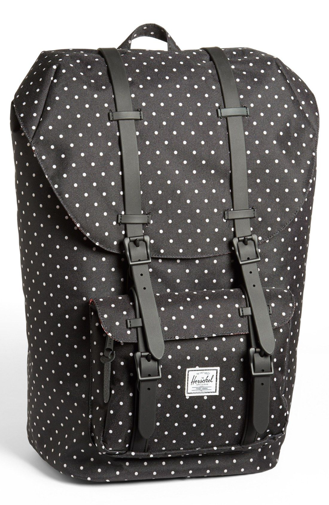 0087daebad Herschel Supply Co. Little America Backpack in Black for Men (Black Polka  Dot)