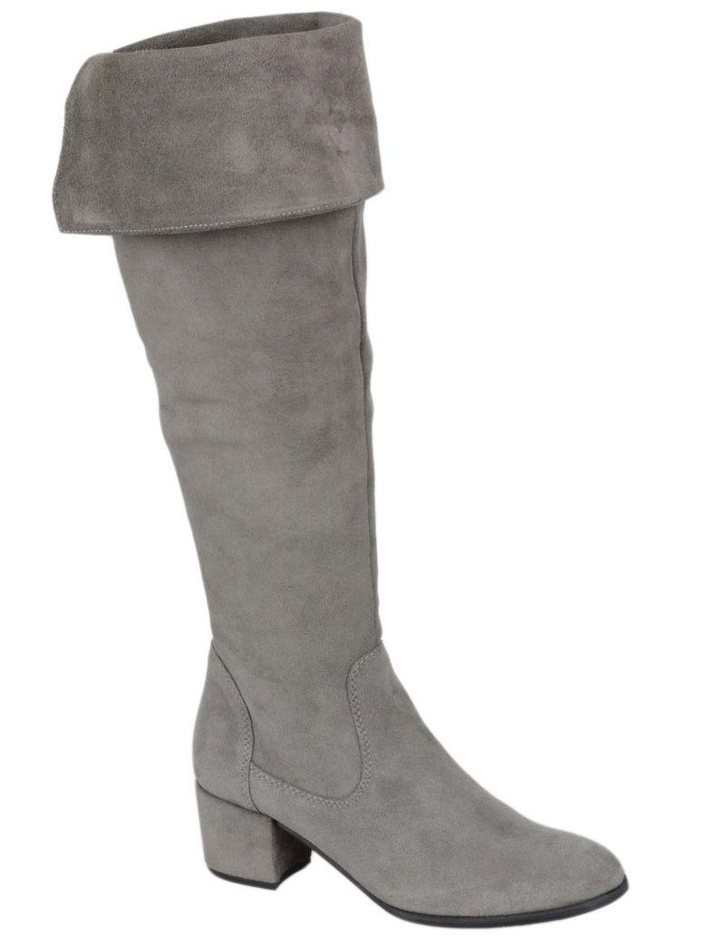 Kozaki Muszkieterki Szare Tamaris 25575 37 38 20 7025965318 Oficjalne Archiwum Allegro Boots Over Knee Boot Knee Boots