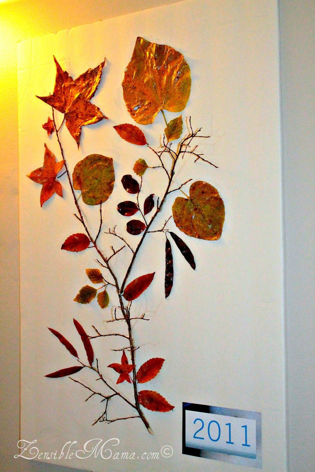 Zensible Mama Diy Fall Leaf And Tree Branch 3d Wall Art Poster Fall Decor Diy Dry Leaf Art Diy Fall