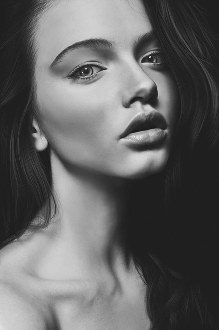 black and white artistic portrait photography