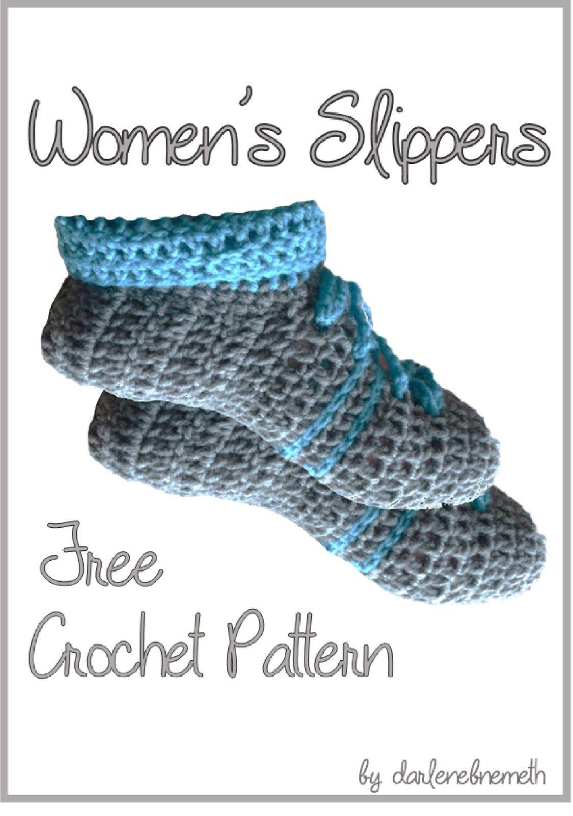 Women\'s Slippers - Free Crochet Pattern | Pinterest | Stricken und ...