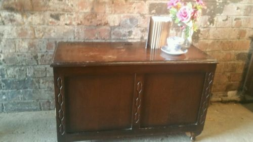 #Beautiful #vintage antique oak #blanket box~ottoman~chest~upcycle project? ,  View more on the LINK: http://www.zeppy.io/product/gb/2/331720429671/