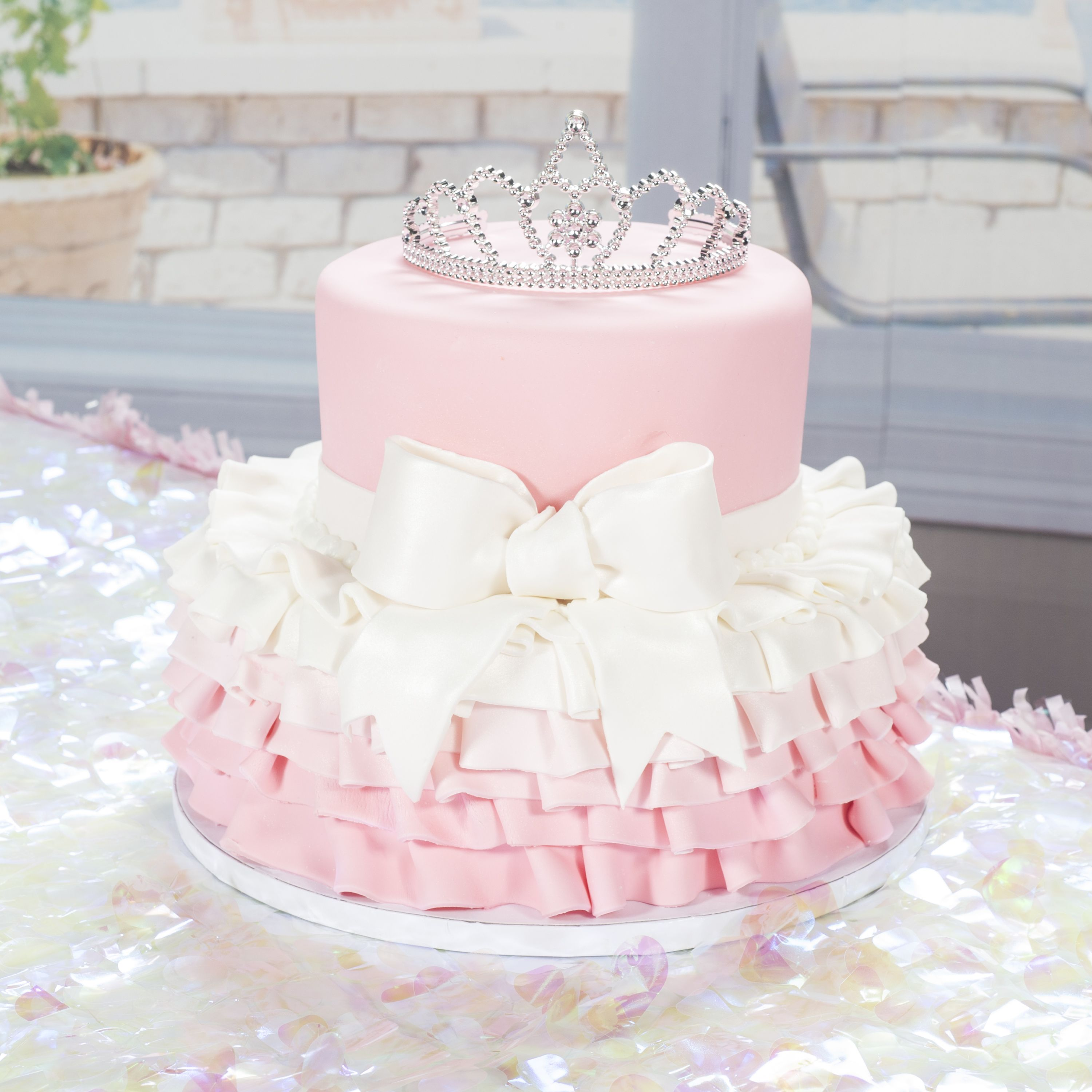 This Princess Cake Is Topped With A Tiara From Shindigz Reveal