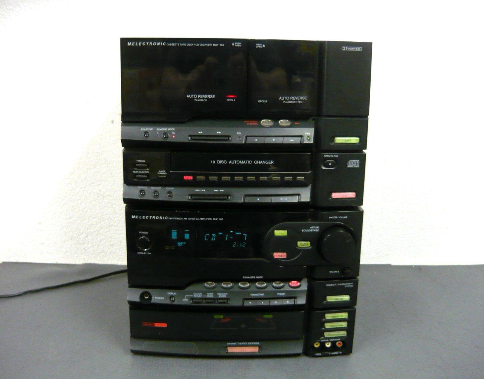 MELECTRONIC - MHF 303 - Midi Stereoanlage mit 10 DISC AUTOMATIC CHANGER de.picclick.com