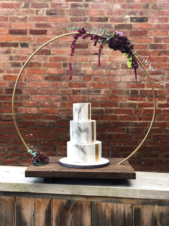 Wedding decorations yellow and white november 2018 Large Metal Wedding hoop and Cake base  Metal Hoop Wreath Floral