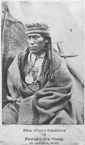 "Nispipe, Also Identified As Ta-Chun-Da-Hupa (Little Crow's Nephew), Prisoner At Fort Snelling. Little Crow (Dakota: Thaóyate Dúta; Ca. 1810 – July 3, 1863) Was A Chief Of The Mdewakanton Dakota People. His Given Name Translates As ""His Red Nation,"" (Thaóyate Dúta) But He Was Known As Little Crow Because Of His Grandfather's Name, Čhetáŋ Wakhúwa Máni, (Literally, ""Hawk That Chases/Hunts Walking"") Which Was Mistranslated."