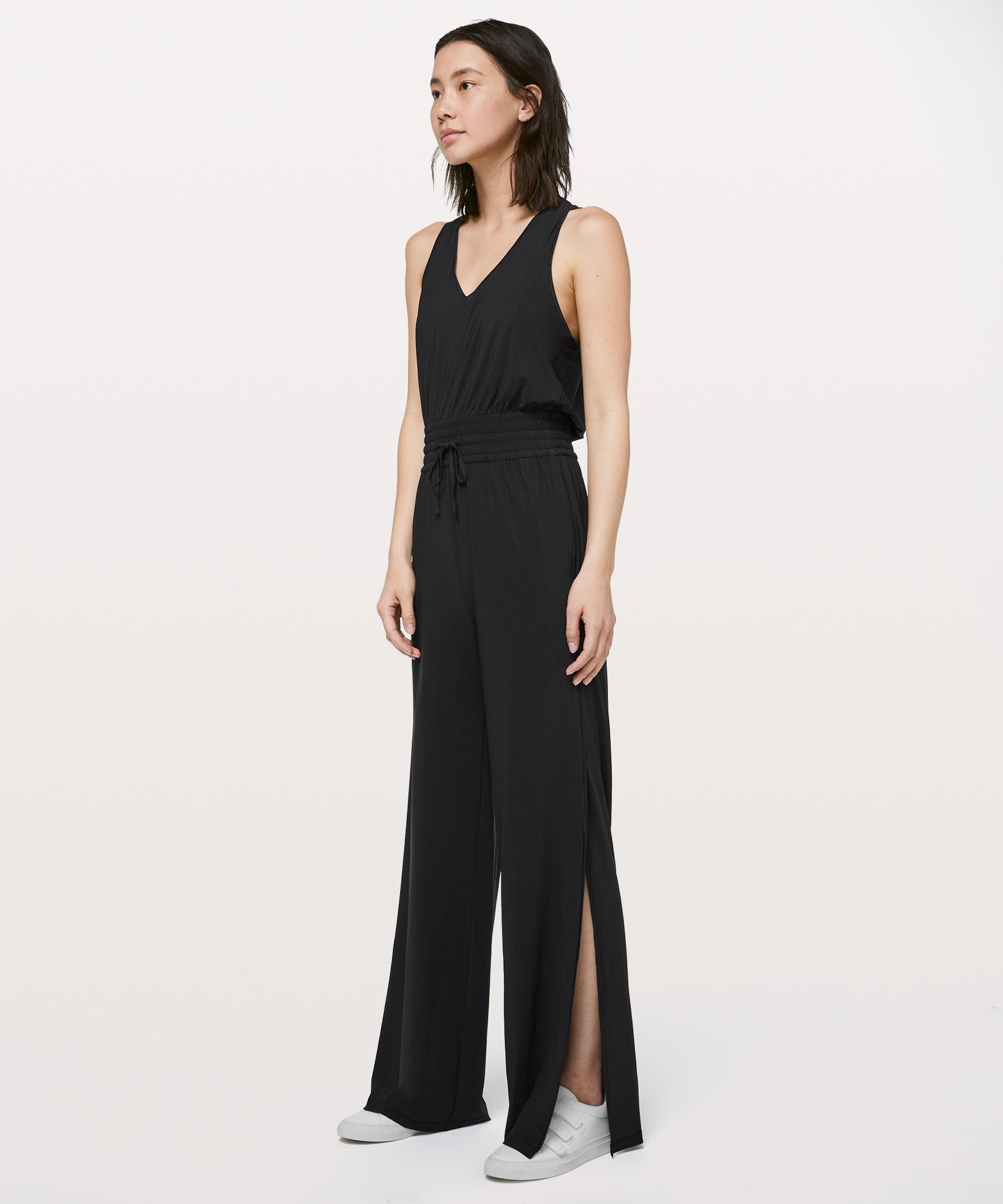 929e05c17ad lululemon Women's Keep Cruising Jumpsuit Online Only, Black, Size 12 ...