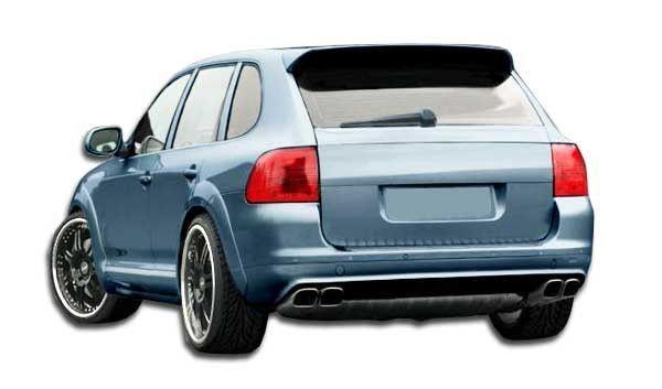 2003-2006 Porsche Cayenne Base S models Duraflex CT-R Rear Lip Under Spoiler Air Dam - 1 Piece