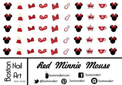 Red Minnie Mouse Waterslide Nail Decals - Set of 50 Boston Nail Art http://www.amazon.com/dp/B00V5G5K0I/ref=cm_sw_r_pi_dp_PDZ9wb13E7WJ3