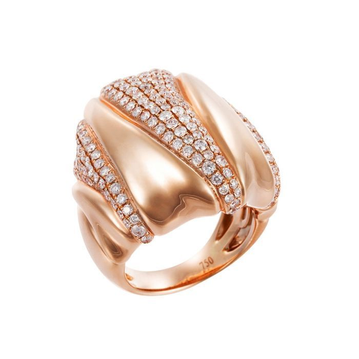 14K Satin Valley Dome Ring