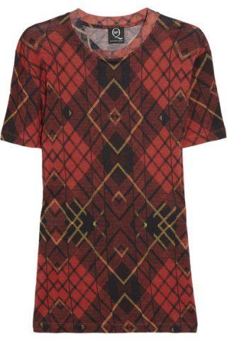 McQ Alexander McQueen|Tartan-print fine-jersey T-shirt|NET-A-PORTER.COM