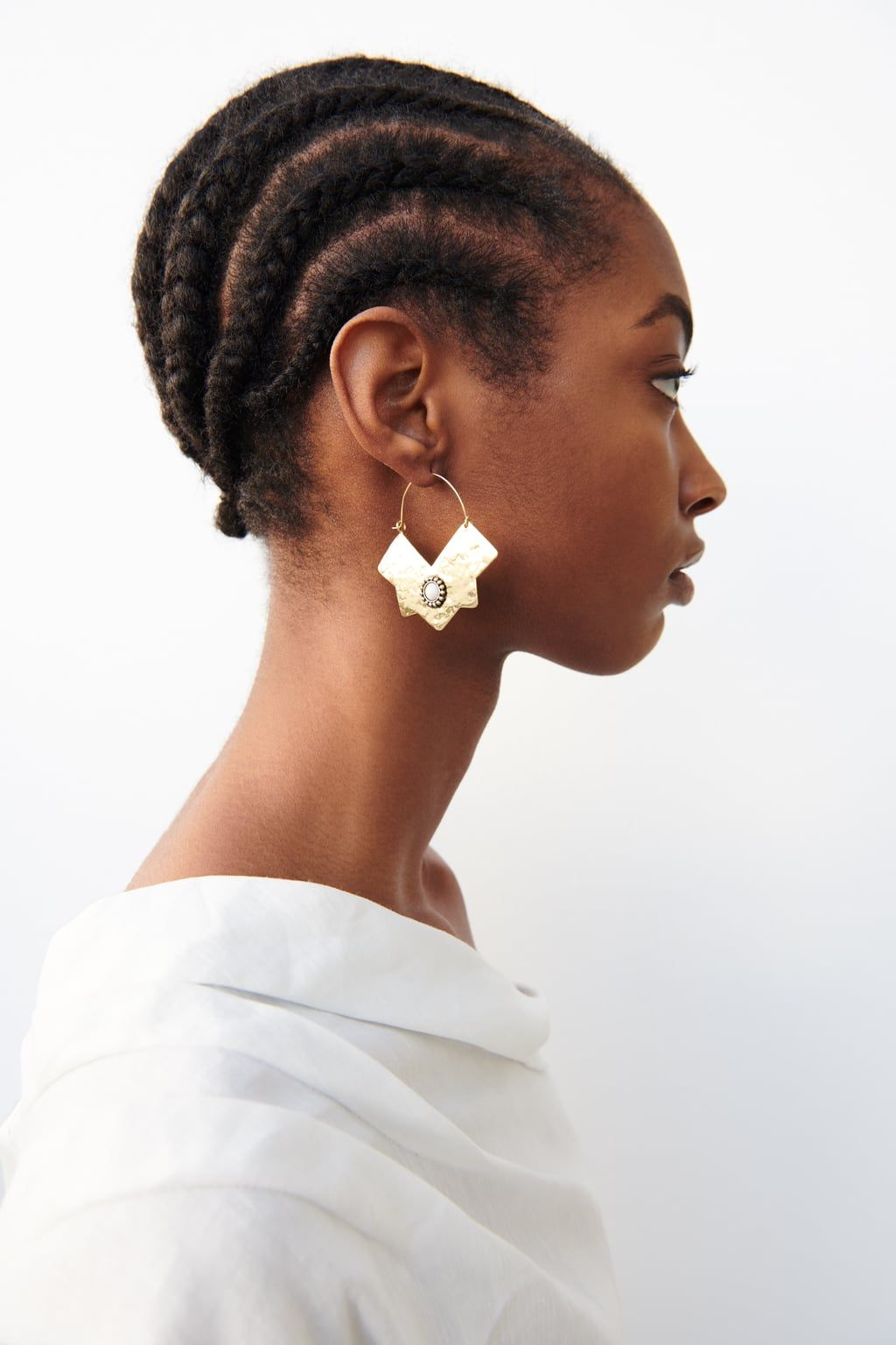 GEOMETRIC EARRINGS - NEW IN-WOMAN   ZARA United Kingdom   Natural hair styles, African ...