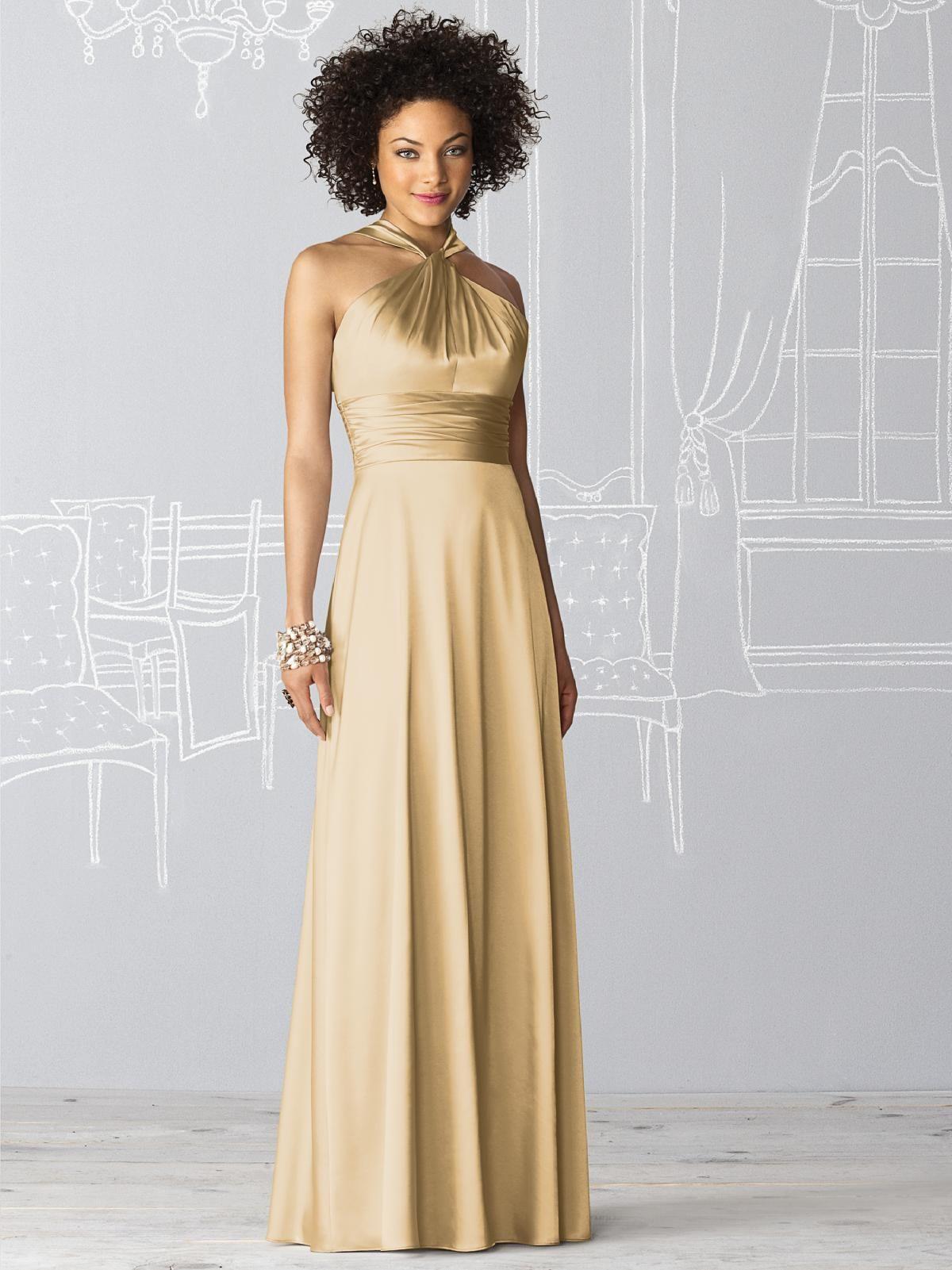 Cream dresses for weddings  Venetian Gold  soon enough uc  Pinterest  Halter gown Wedding