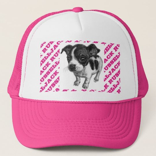 068eea9a Cute Pink Jack Russell Puppy Dog Hat for Women. Looking to cheer your team,