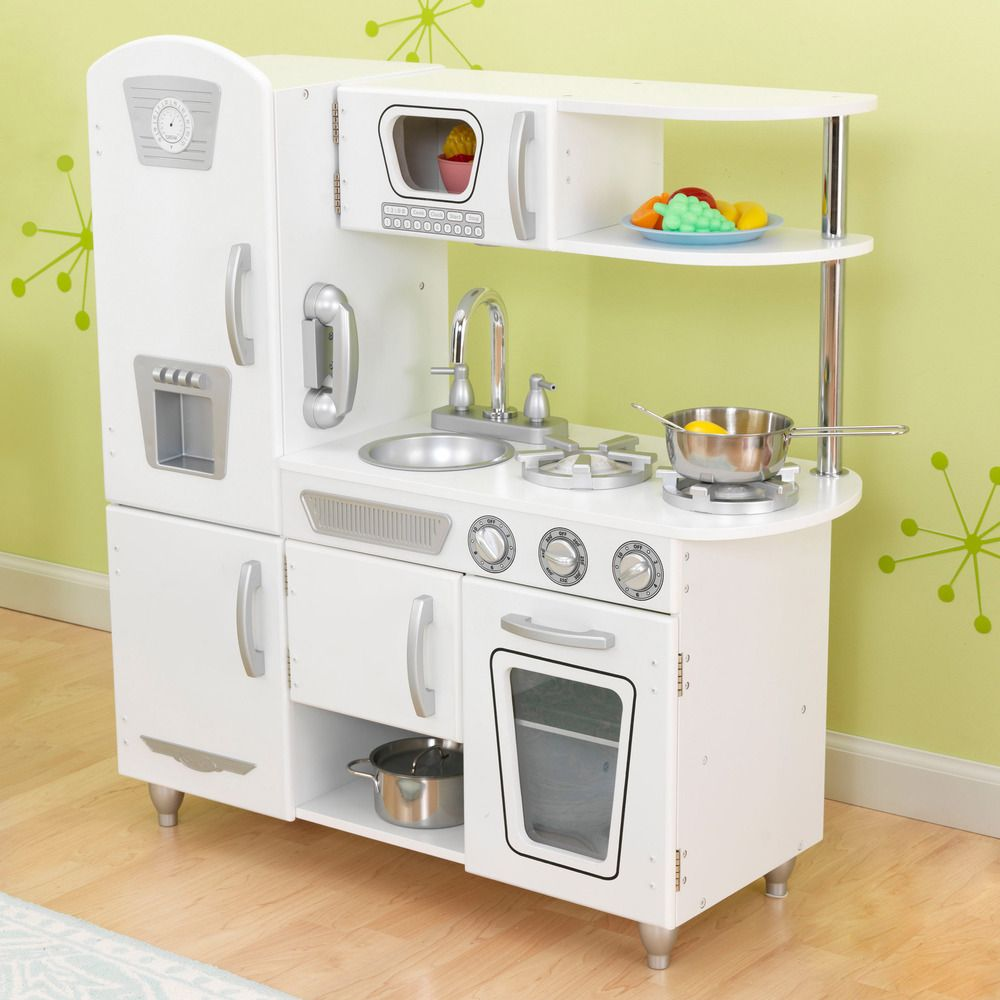 Uncategorized Overstock Kitchen Appliances kidkraft white vintage kitchen by kidkraft