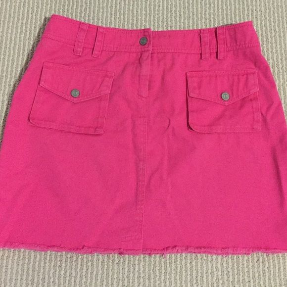 Pink Skirt Pink jean skirt. 14 inches long. Excellent condition. Cynthia Steffe Skirts