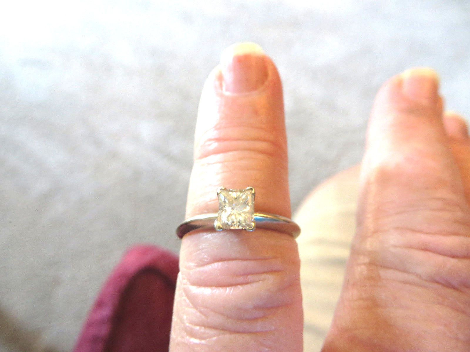 Jewelry k wg approximately tcw princess cut diamond solitaire