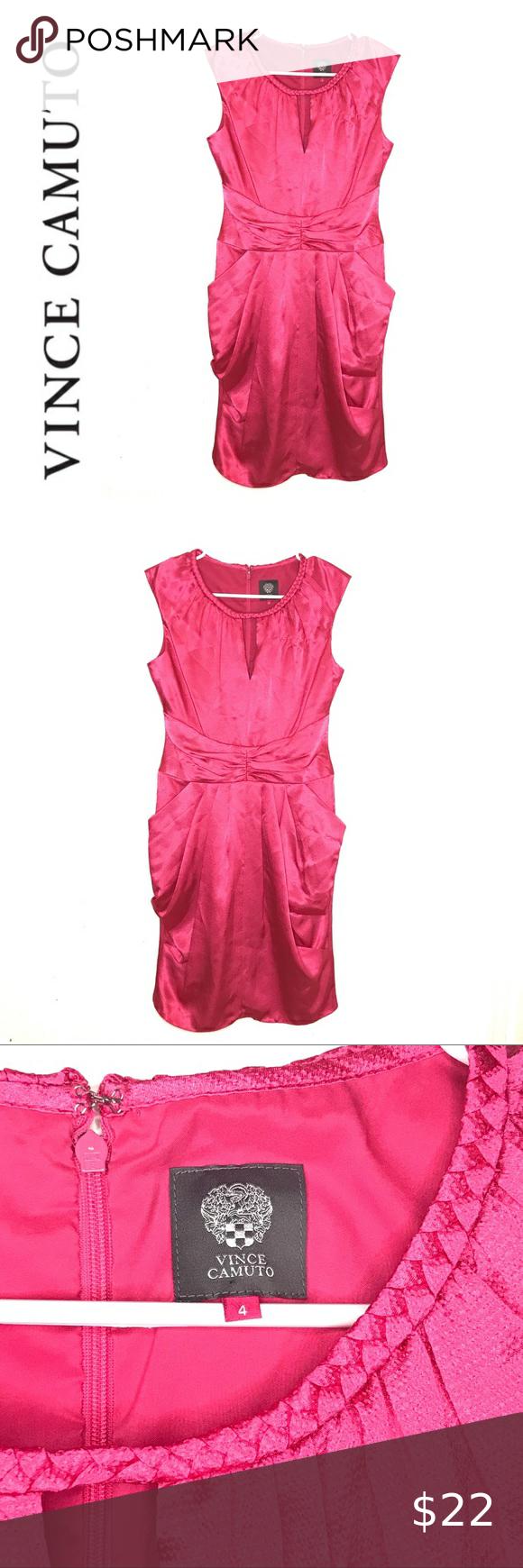 Vince Camuto Pink Satin Shift Dress Vince Camuto Size 4 Pink Satin Shift Dress Sleeveless With Notched V Neck Pockets Shift Dress Pink Satin Vince Camuto Dress [ 1740 x 580 Pixel ]