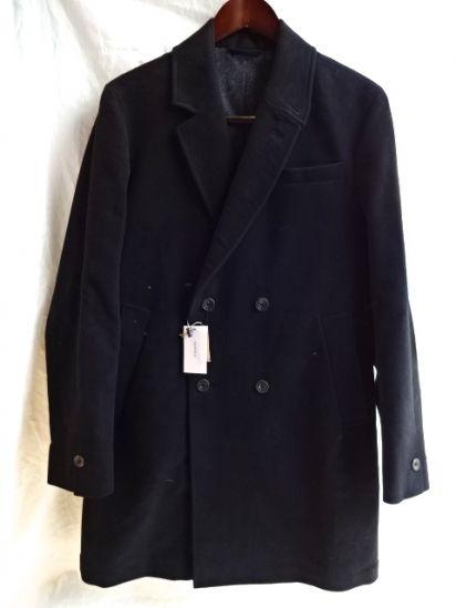 "S.E.H Kelly ""LANCASTRIAN HEAVY MOLESKIN"" TOP COAT Made in England Black"