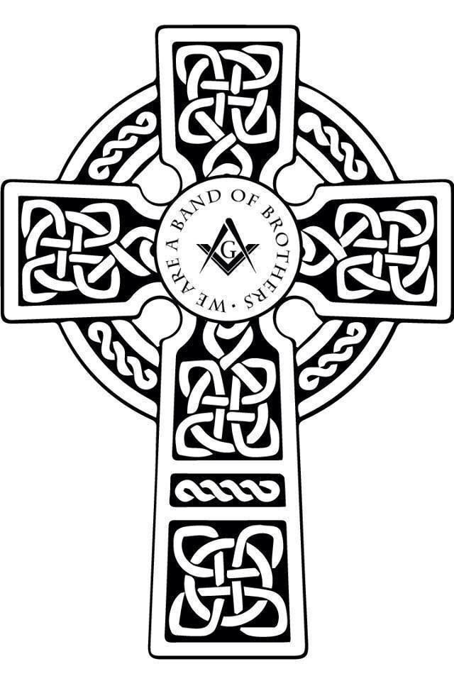 We Are A Band Of Brothers Celtic Cross Freemasonryscottish Rite