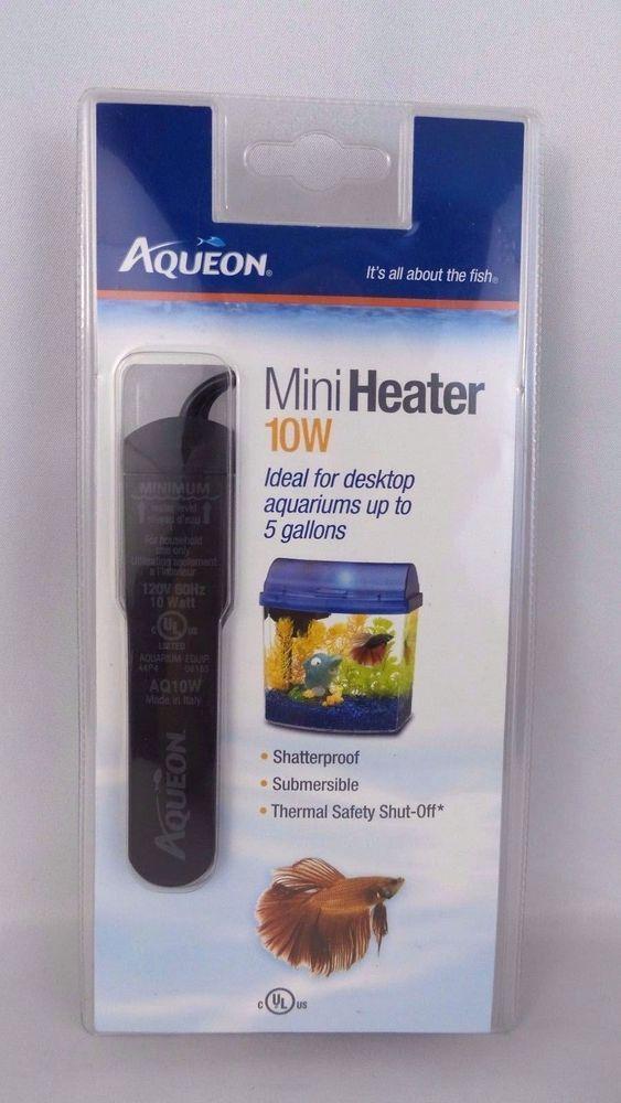 New Aqueon Mini Heater 10w 10 Watt Ideal For Desktop