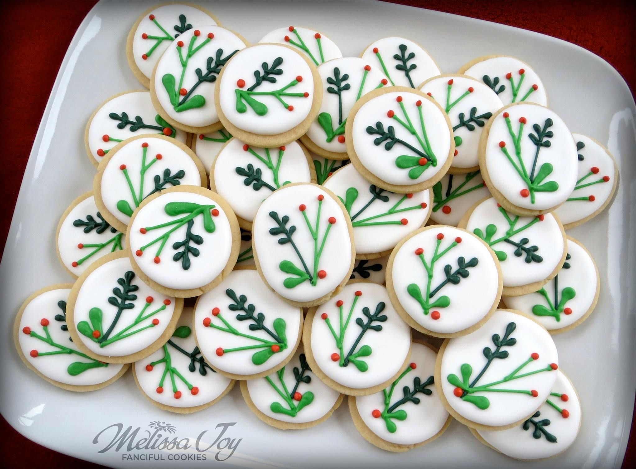 Mod Holly Berry Cookies For Christmas Decorating Tips Cookies