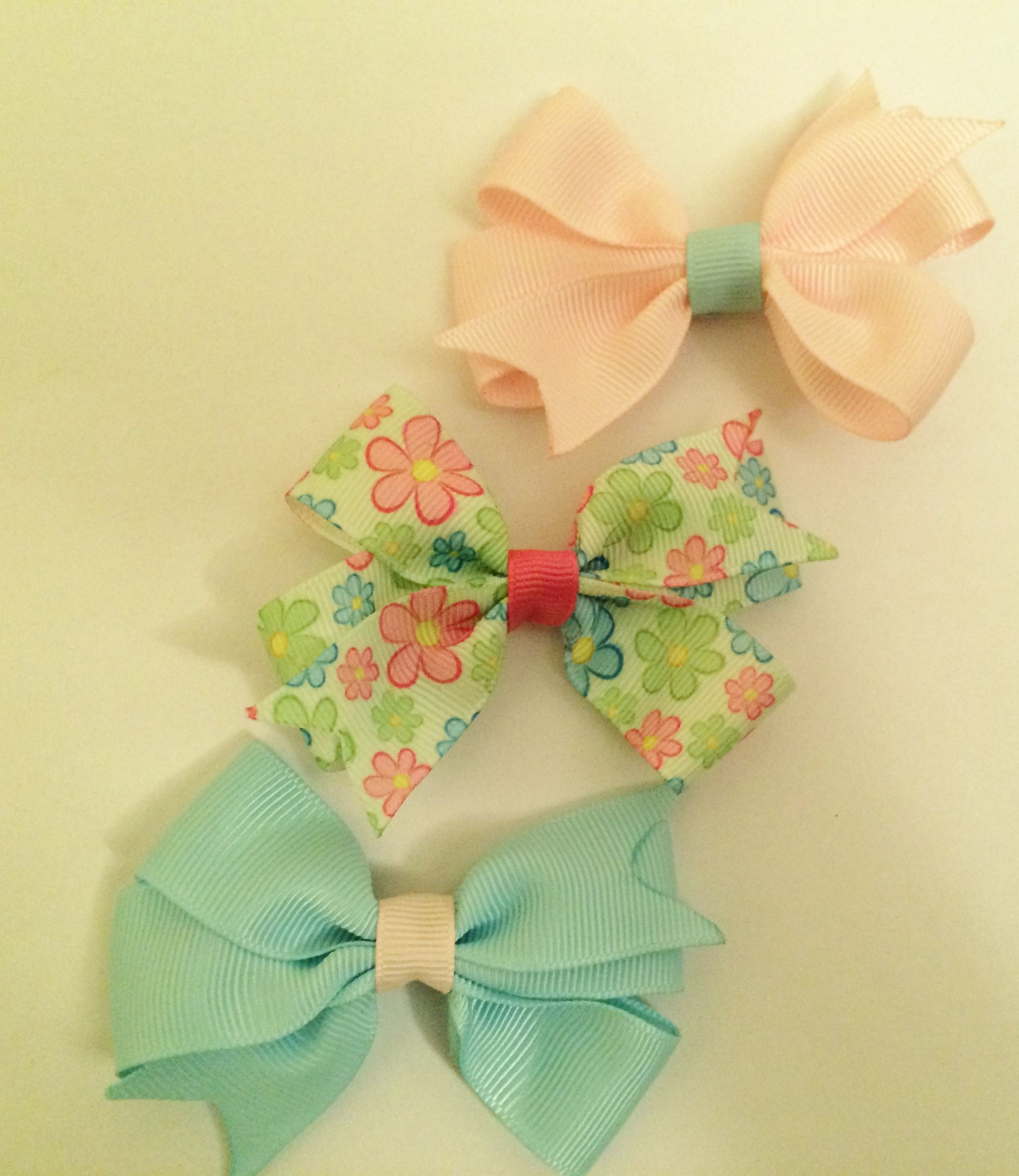 Set of 3 spring time baby bows.https://www.etsy.com/listing/225378672/set-of-3-small-baby-spring-time-pastel?ref=shop_home_active_4