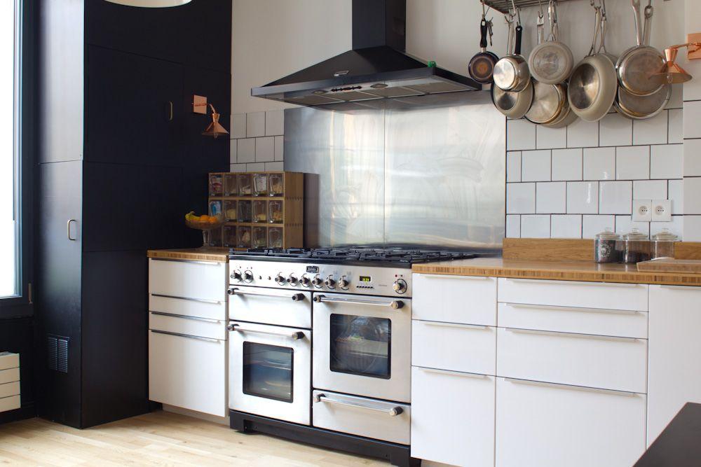 Cuisine blanche et noire Déco Pinterest Inspiration