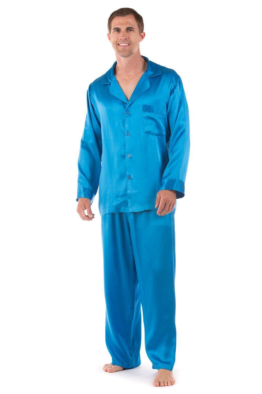 5baad8806292 Shop Men's Classic Silk Pajama Set (The Riviera) Luxury Sleepwear by  TexereSilk at Amazon Men's Clothing Store. Free Shipping+ Free Return on  eligible item