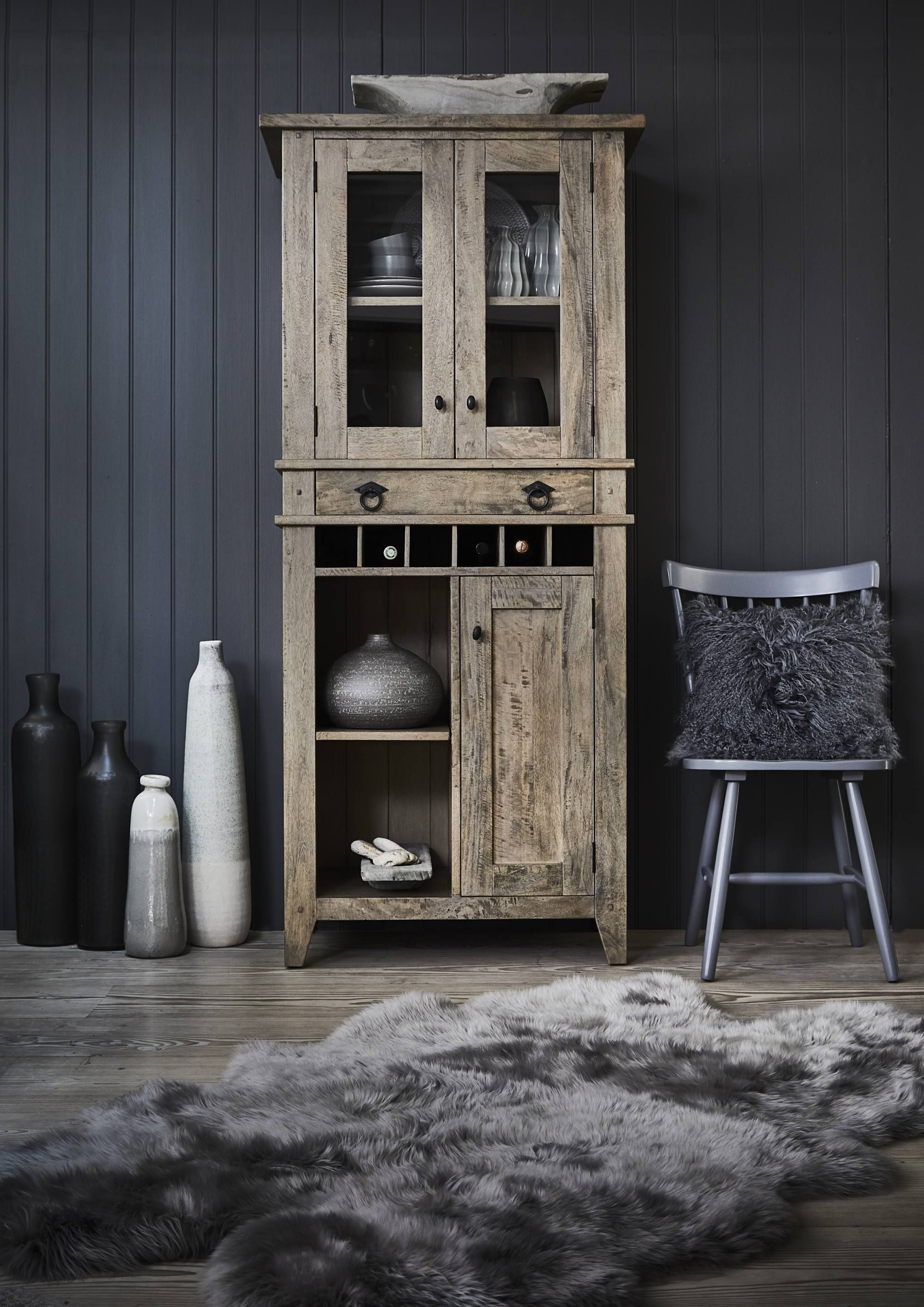 This Stunning Display Cabinet Is Attractive And Functional, A .