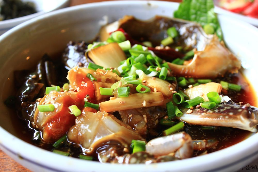 Raw crab marinated in soy sauce(간장계장)