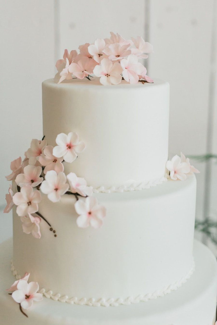Top 20 Simple Pink Wedding Cakes For Spring Summer Weddings Pink Wedding Cake Wedding Cake Decorations Romantic Wedding Cake