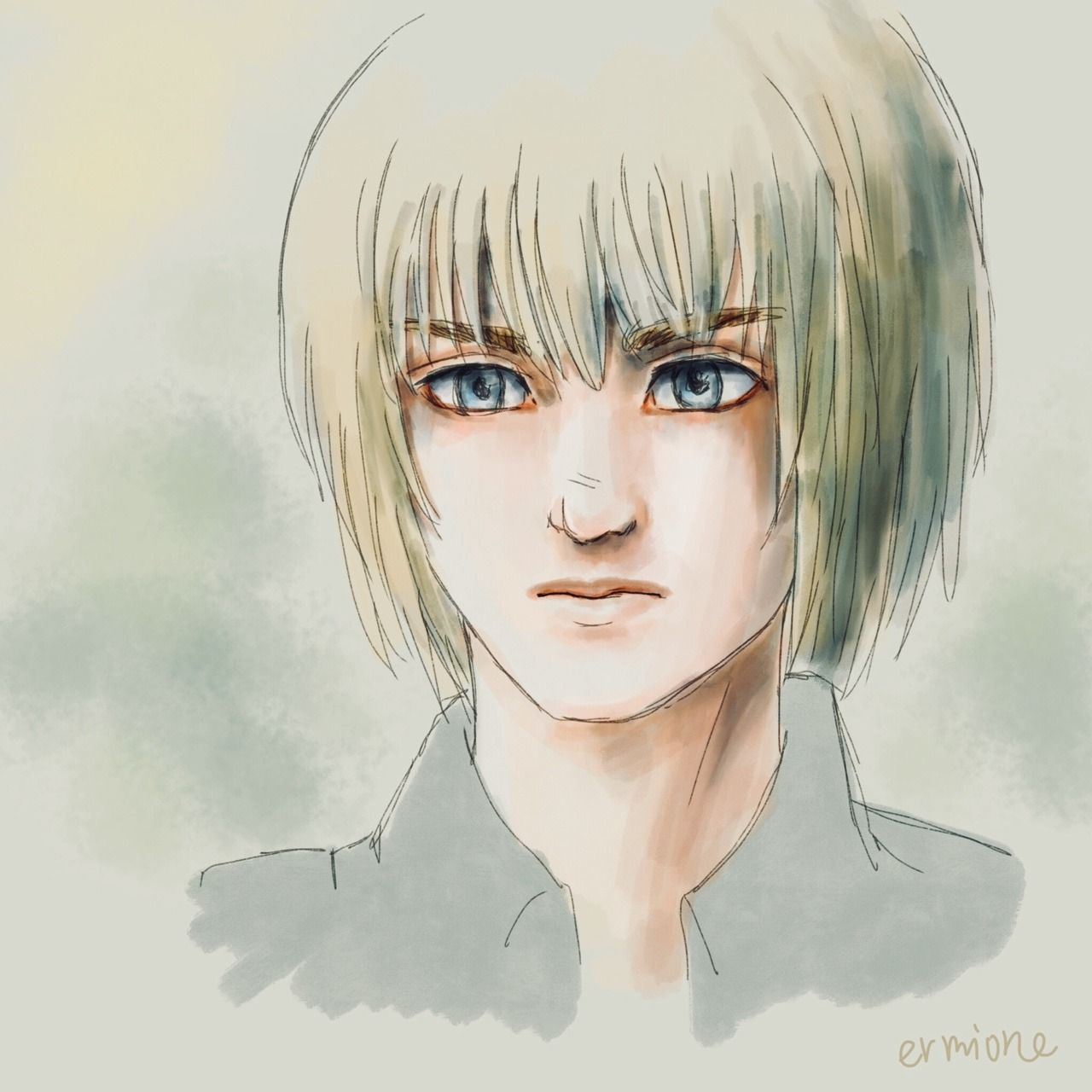 ermione Doodle of Armin, because I couldn't resist