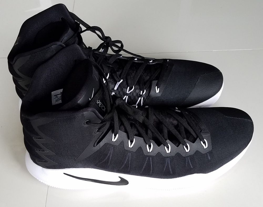 646319ea3b7f4 Nike Hyperdunk Size 20 Basketball Shoes Black White 856483-001 Rare!  Nike   BasketballShoes