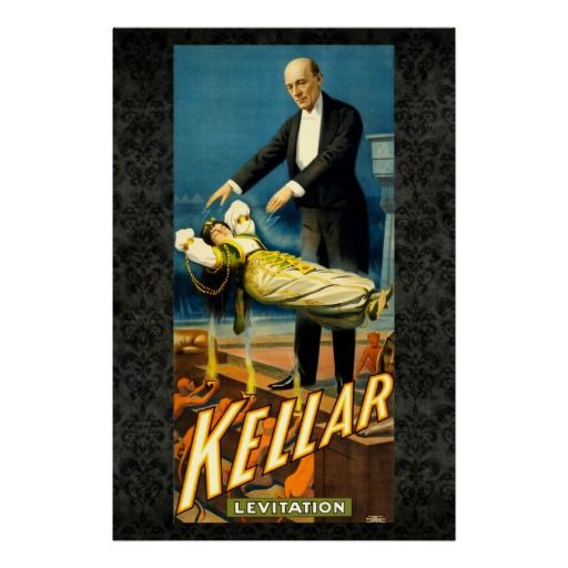 Kellar the Magician Reissue Vintage 36 x 24 Poster available at www.zazzle.com/stevebrownleeart