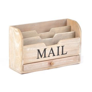 Wood Storage Mail Sorter Mail Sorter Diy Mail Organizer Wood