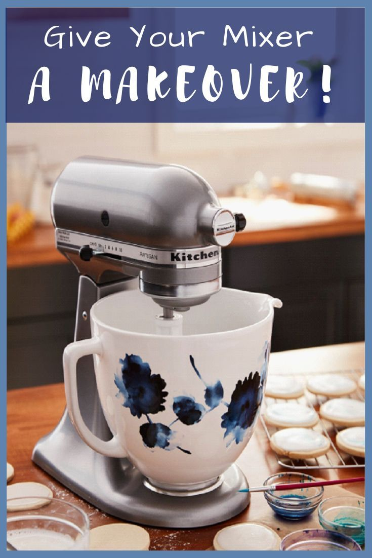 Give your mixer a makeover with a pretty floral ceramic