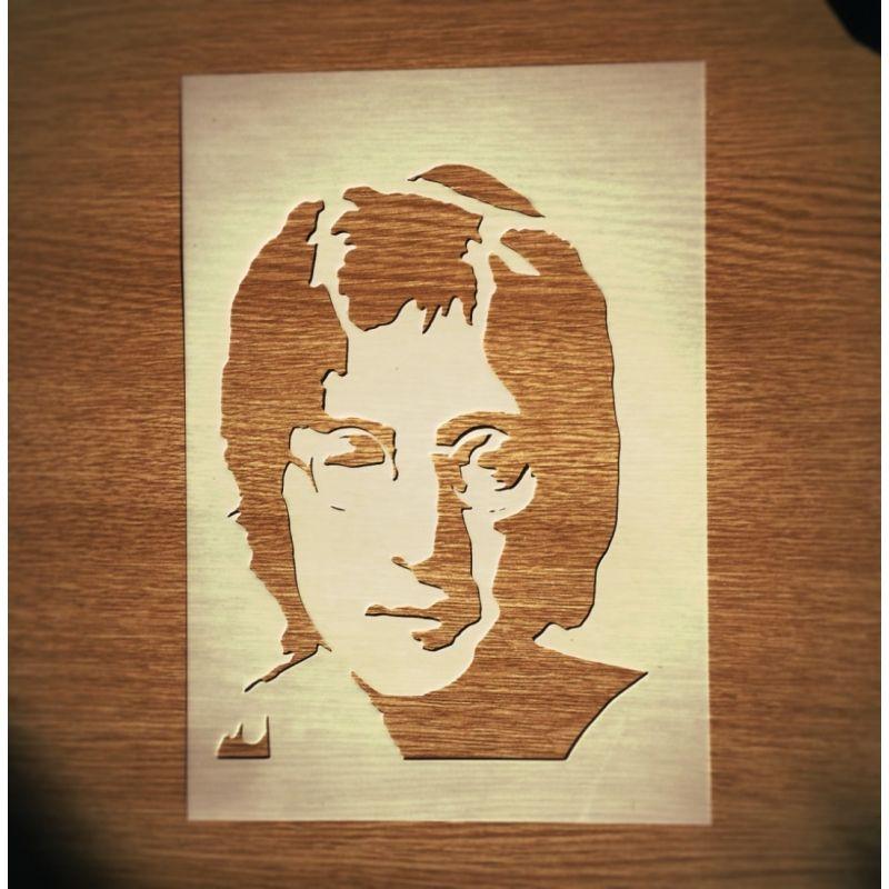 John Lennon Stencil | John lennon, Beatles and Stenciling