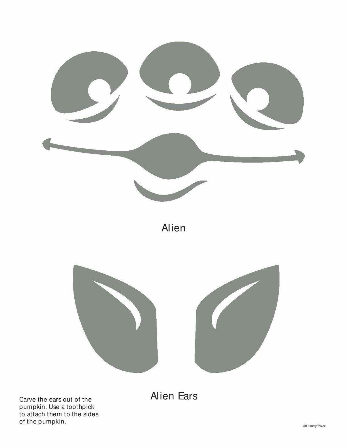 Alien Pumpkin Carving Template In