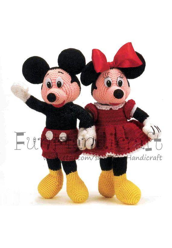 Disney Mickey & Minnie Mouse 12 Amigurumi Pattern by FunHandicraft ...