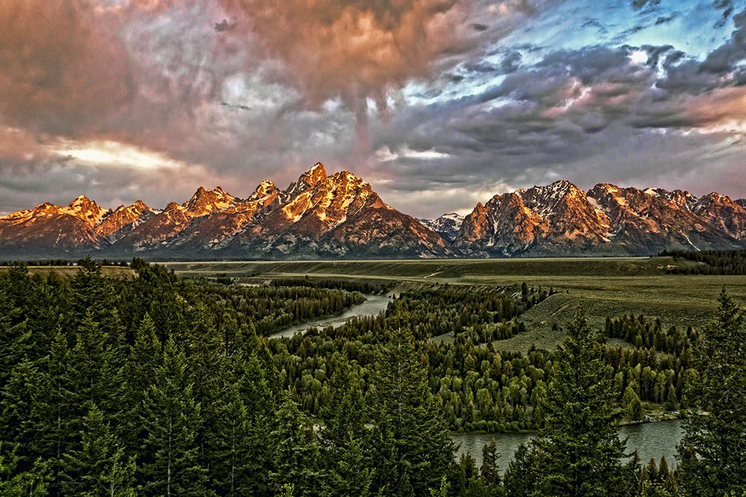 The Snake River and the Tetons