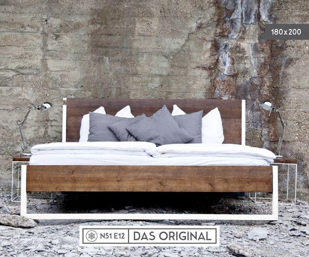 Bett Holz 180 200 Luxury Betten Loft Vintage Industrial Bett 180