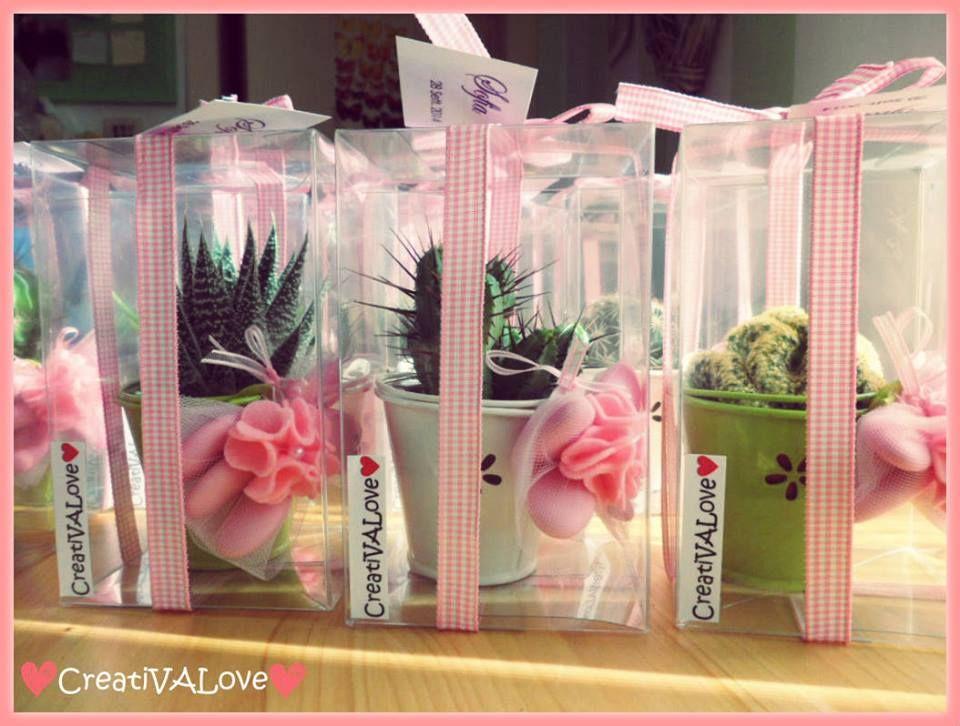 Piante grasse succulente bomboniera per battesimo i - Idee bomboniere testimoni di nozze ...