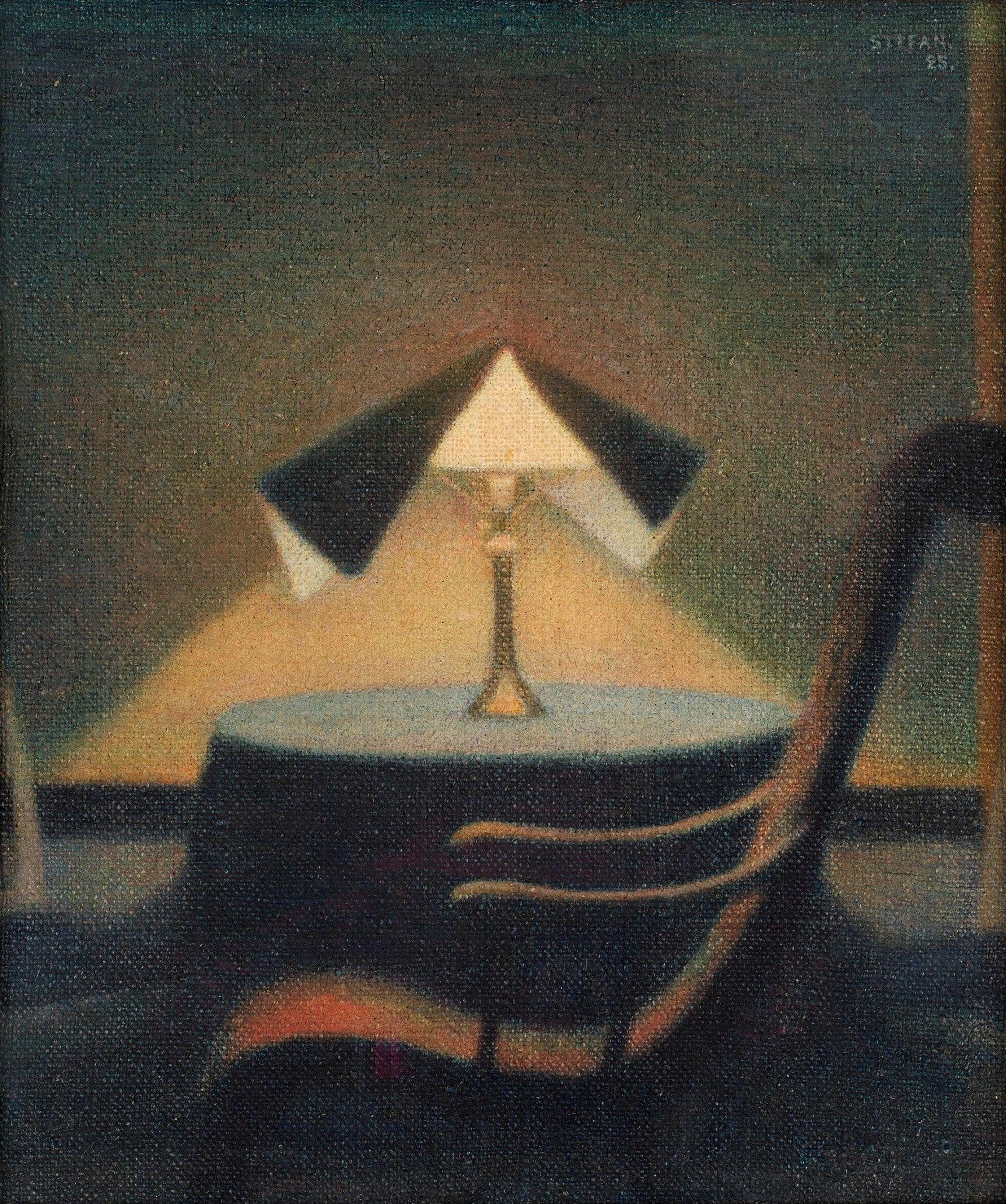 Stefan Johansson (Swedish, 1876-1955), In the light of the lamp, 1925..jpg