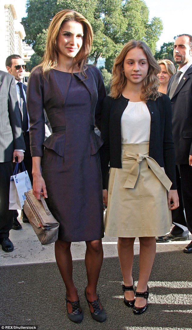 Princess Iman has adopted her mother's modest sense of style