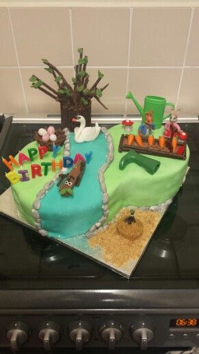 Stick Man / Peter Rabbit cake
