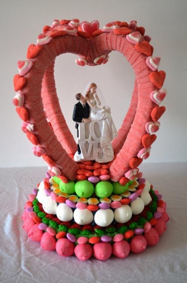Coeur en bonbon mariage pinterest bonbon coeur et gateau de bonbon - Gateau en bonbon ...