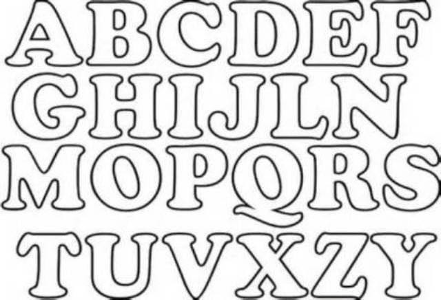 moldes de letras para imprimir y recortar medianas - Buscar con ...