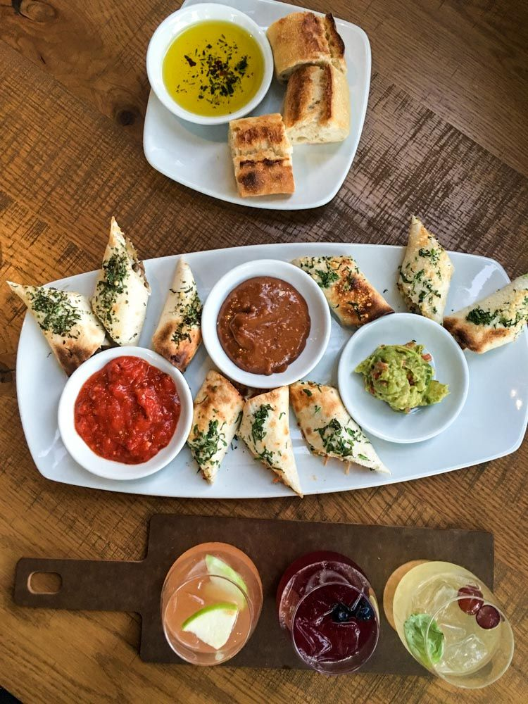 Spring rolls and bread at California Pizza Kitchen by A Lady Goes